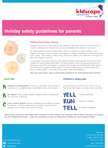 Holiday safety guidelines for parents