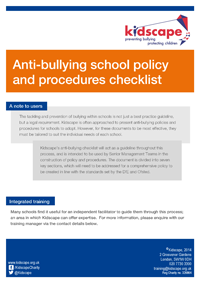 Anti-bullying school policy and procedures checklist