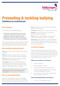 Preventing and tackling bullying