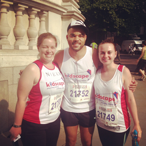 Lisa T and Nikki with Nate at British London 10k 2013