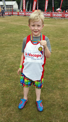 Sam's triathlon triumph