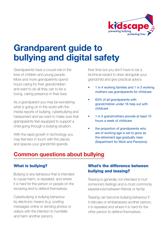 Grandparent guide to bullying and digital safety